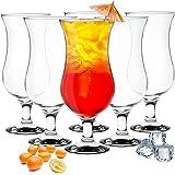 Sendez 6 Stück Cocktailgläser 480ml 9 Varianten Hurricane Longdrinkgläser Bargläser (Klar)