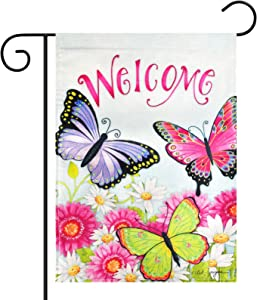 Lapogy Welcome Spring Garden Flag 12.5