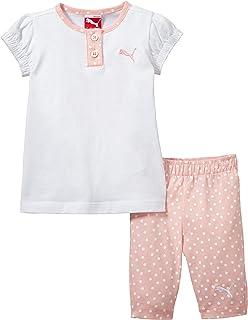 Puma, Completo Maglietta e Pantaloncini Bambina Style Mini Cats