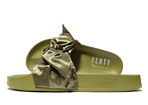 4bd0583ed PUMA Womens Bow Slide Fenty by Rihanna Olive Branch (US 6 / UK 3.5 ...