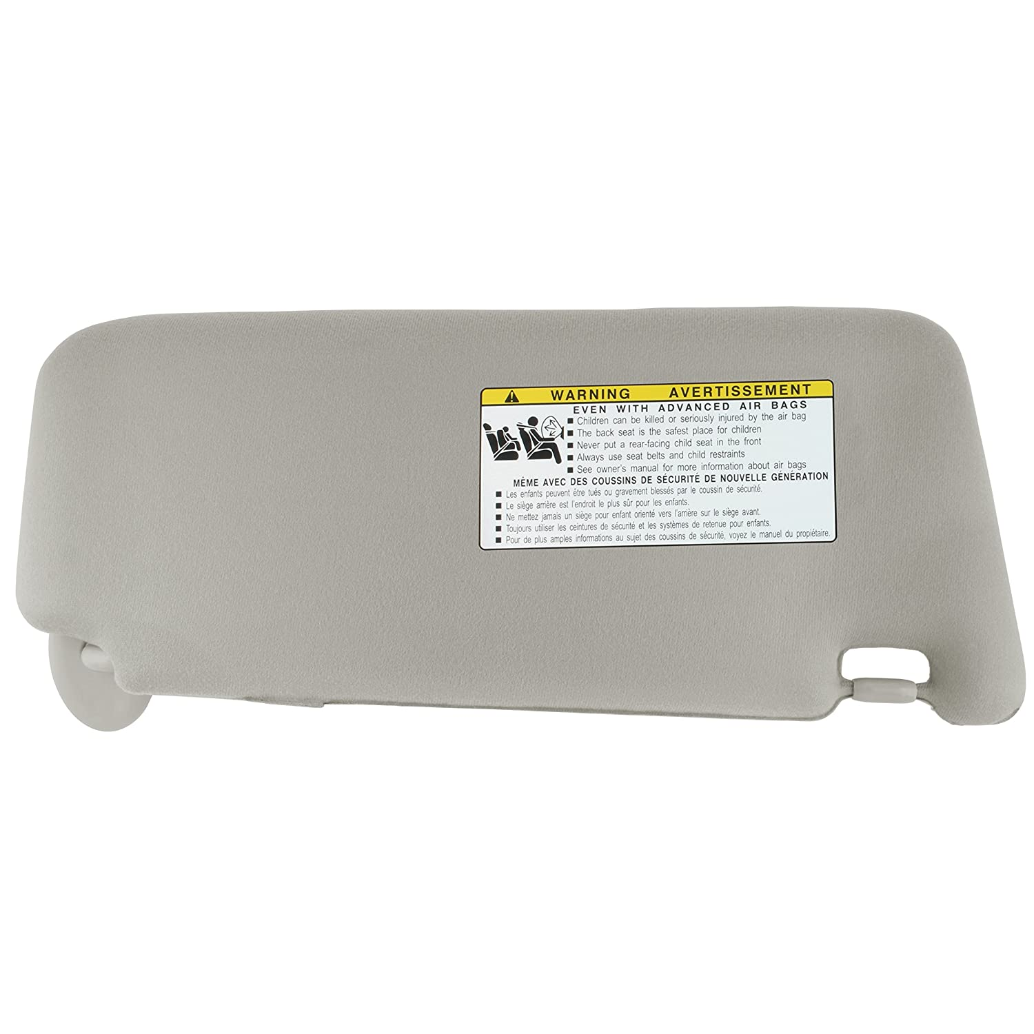 IAMAUTO 14928 New Sun Visor Left Driver Gray for 2007 2008 2009 2010 2011 Toyota Camry with Sunroof and Light