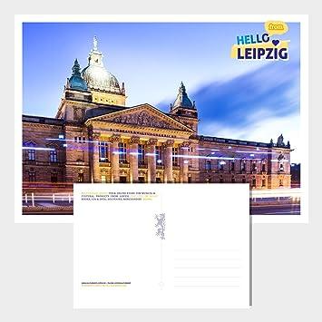 Postkarte Leipzig Bundesverwaltungsgericht Postcard Hello From