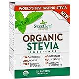 Sweet Leaf Sweetener - Organic - Stevia - 70 Count- 95%+ Organic - Use SweetLeaf in place of sugar