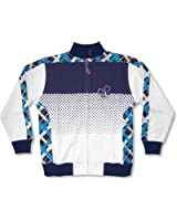 "Disney Adult ""Polka Dot & Plaid"" Mickey White Track Jacket"