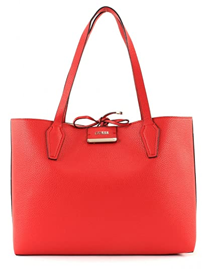 GUESS Bobbi Inside Out Tote Red / Tan  43 EU  Firetrap Savoy Hommes Chaussures Habillees à Lacets Noir 10 (44) Legero Mira Geox U Uvet A 48OWy2s
