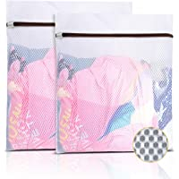 GOGOODA Mesh Laundry Bag for Delicates Set of 2 Lingerie Bags for Washing Machine Great for Laundry, Hosiery, Blouse…