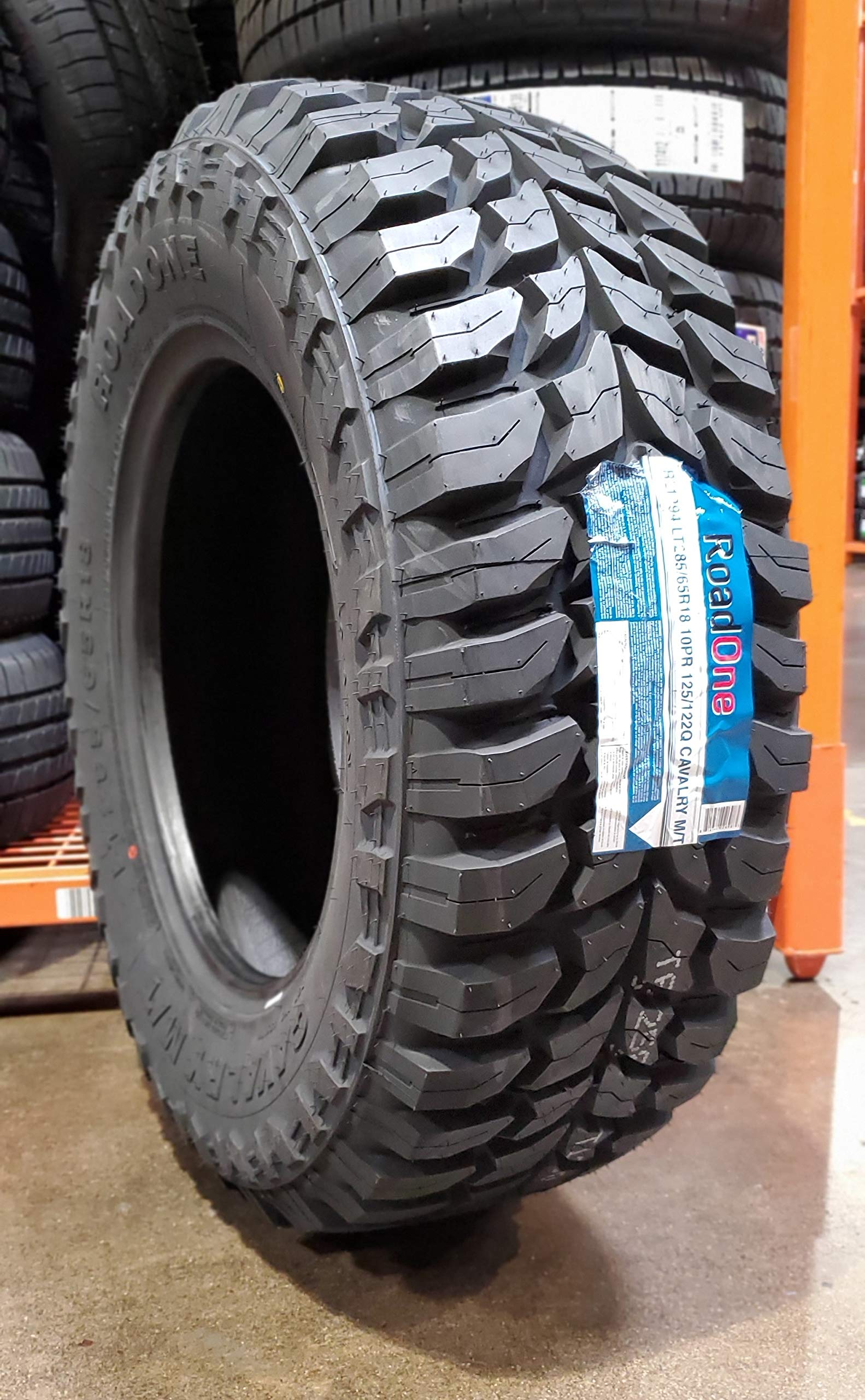 Road One Cavalry M/T Mud Tire RL1294 285 65 18 LT285/65R18, E Load Rated by Road One