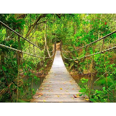 Fototapete Brücke Wald Vlies Wand Tapete Wohnzimmer Schlafzimmer Büro Flur  Dekoration Wandbilder XXL Moderne Wanddeko - 100% MADE IN GERMANY - ...