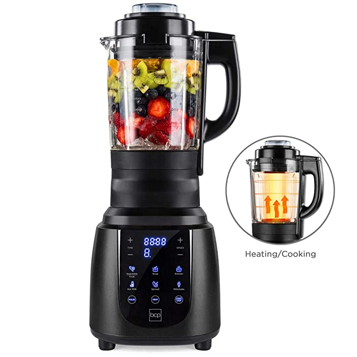 Best Choice Products 1200W 1.8L Multifunctional High-Speed Digital Professional Kitchen Smoothie Blender w/Heating