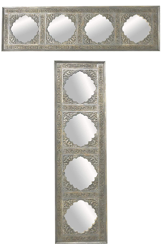 Espejo de pared oriental Haliz, 180 cm, gris, espejo de ...