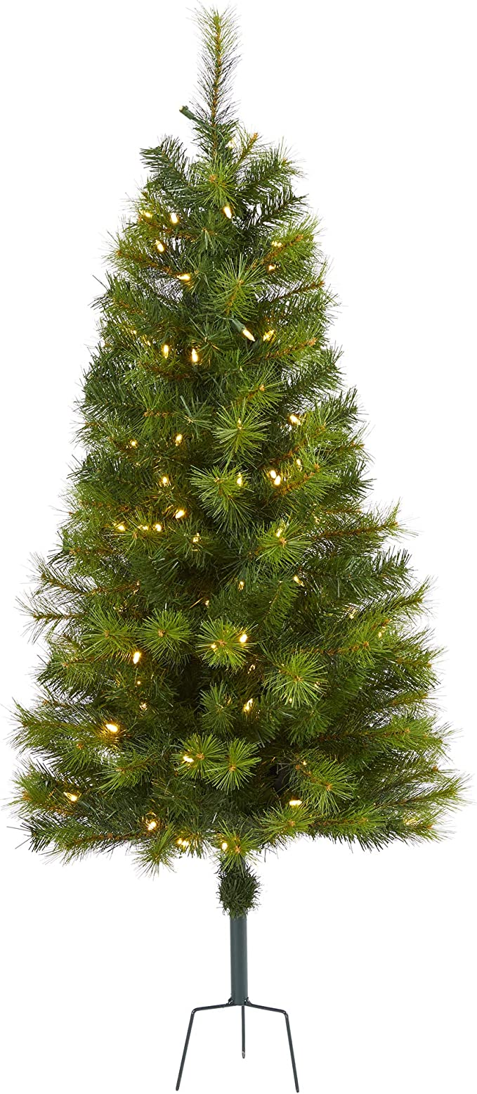Amazon.com: Nearly Natural 4ft. Green Valley Pine ...