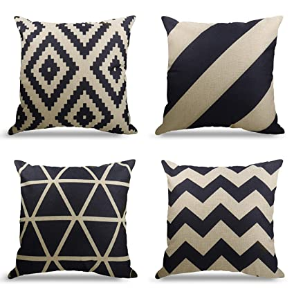Latest Collection Of Geometric Interior Linen Pillow Case Decorative Circle Woven Cushion Cover Fashion Home Sofa Pillow Case 45 X 45cm Sell By Piece Wide Selection; Cushion Cover
