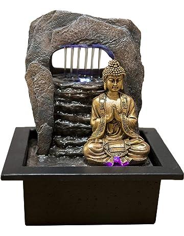Zen Light Buda Zen Dao Fuente, Resina, Bronce, 21 x 17 x