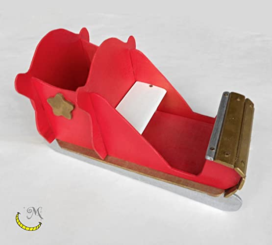 Slitta Di Babbo Natale Fai Da Te.Slitta Di Babbo Natale In Legno Riciclato Amazon It Handmade
