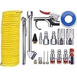 "WYNNsky Air Compressor Accessory Kit, 1/4"" NPT Air Tool Kit w/1/4""x25Ft Coil Nylon Hose /Blow Gun/ Tire Gauge - 20 Piece"