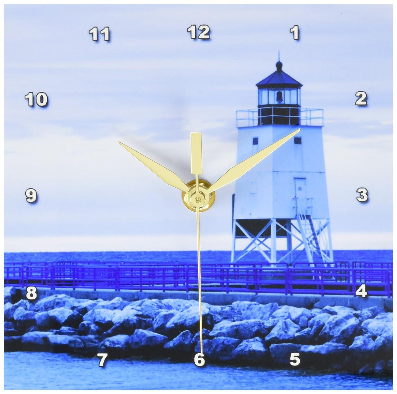 Lighthouses 6x6 Desk Clock US23 WBI0323 Walter Bibikow Charlevoix Lighthouse Lake Michigan 3dRose Danita Delimont Michigan dc/_91258/_1