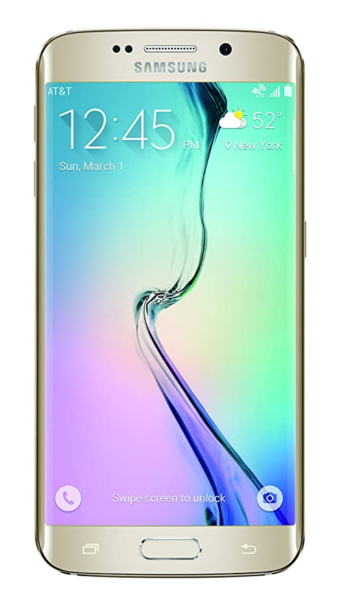 Amazon Com Samsung Galaxy S6 Edge Gold Platinum 32gb At T Cell