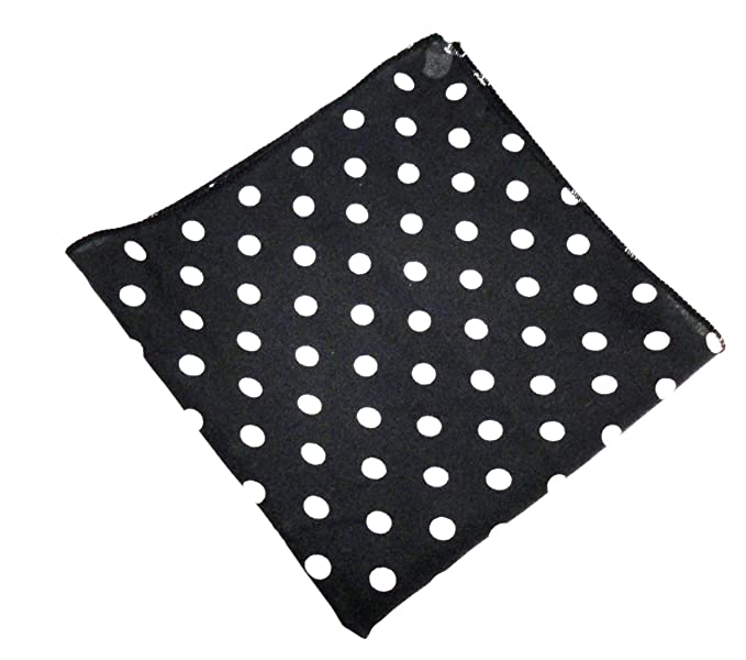 90b767ee4faf Image Unavailable. Image not available for. Colour: Voici France - Premium  Black and white Polka dots Pocket Square ...