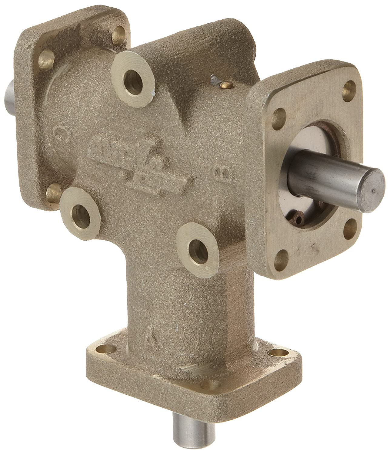 Image of Gearheads & Speed Reducers Andantex R3103 Anglgear Right Angle Bevel Gear Drive, Universal Mounting, Two Output Shafts, 3 Flanges, Inch, 3/8'Shaft Diameter, 1:1 Ratio.34Hp at 1750rpm