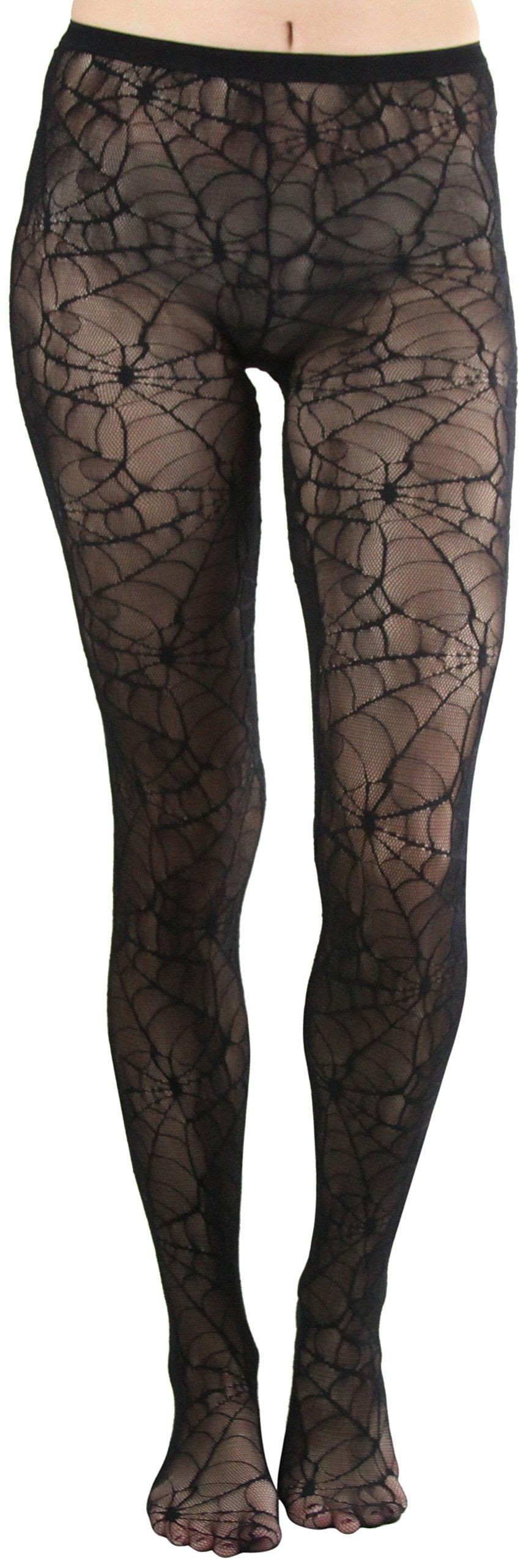 ToBeInStyle Women's Spider Web Pantyhose - BLACK, One Size Regular