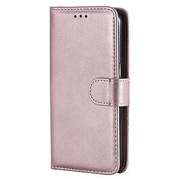 Lomogo Funda Galaxy S7, Funda de Cuero con Cartera para ...
