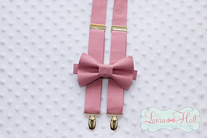ee809f0c8772 Bow Tie and SUSPENDERS set MAUVE - BALLET bow tie and suspenders, dusty  rose tie, rose pink bow tie suspenders,mauve gold bow tie suspenders, mens  wedding ...