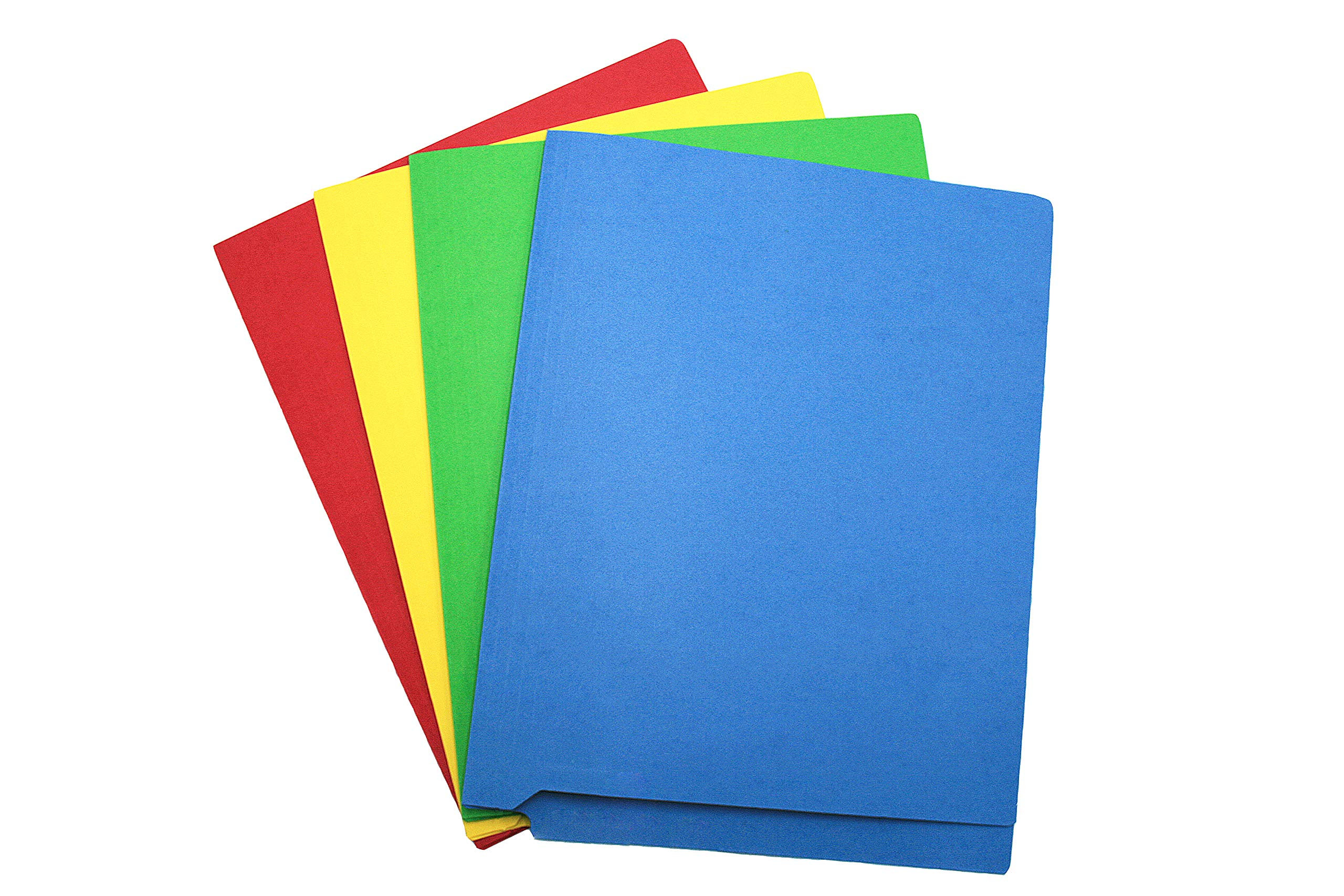 TAB Color Folder with Double Ply Side Tab and Fasteners – Letter, Assorted Colors, 11 pt, 100/box