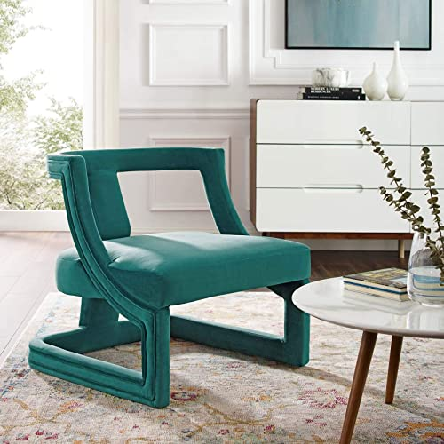 Modway Requisite Performance Velvet Guest Reception Accent Chair