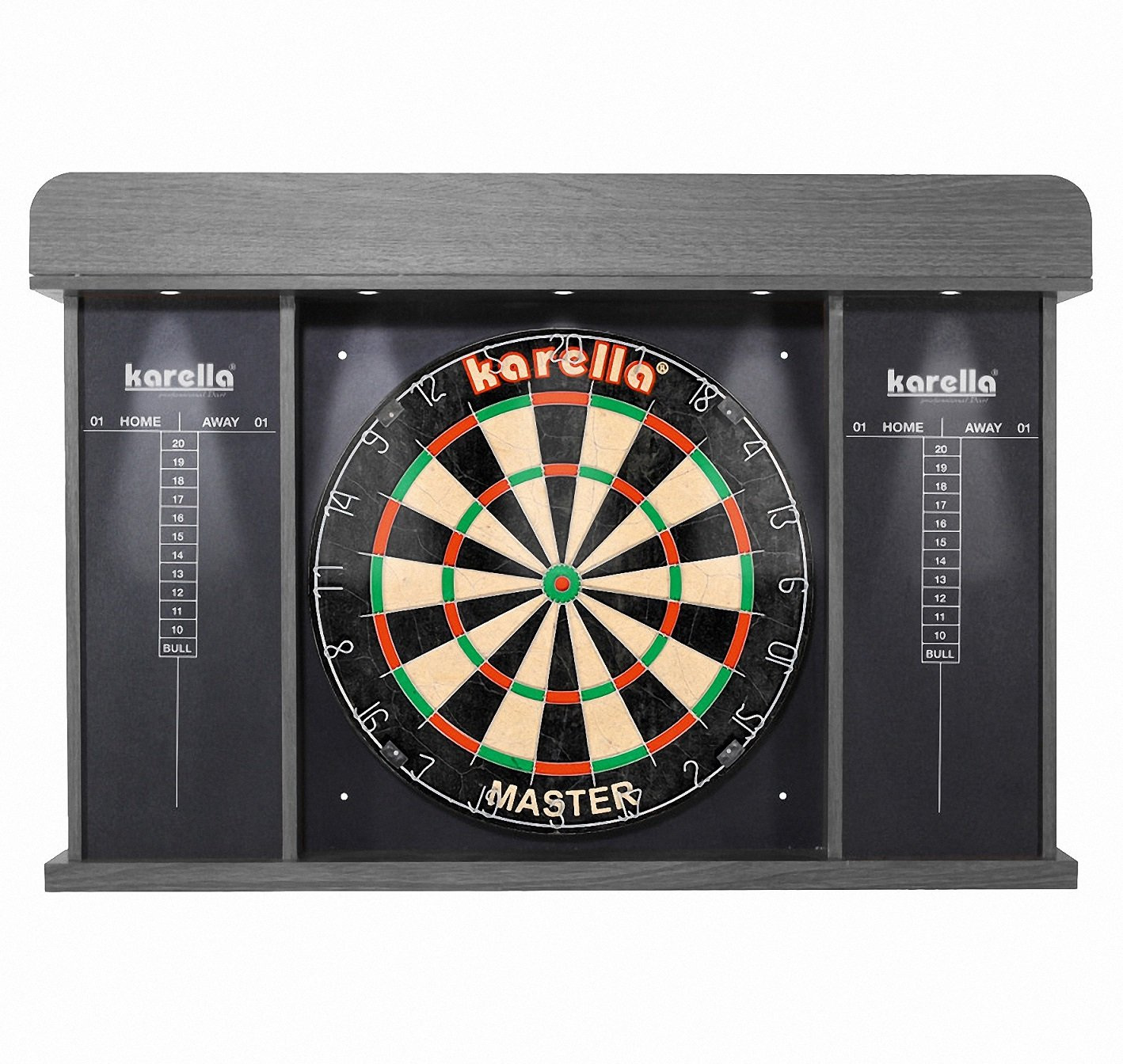 Dart Cabinett Cabinet Arena for Dartboards with Lighting and 3Kit Roleo Dartflys