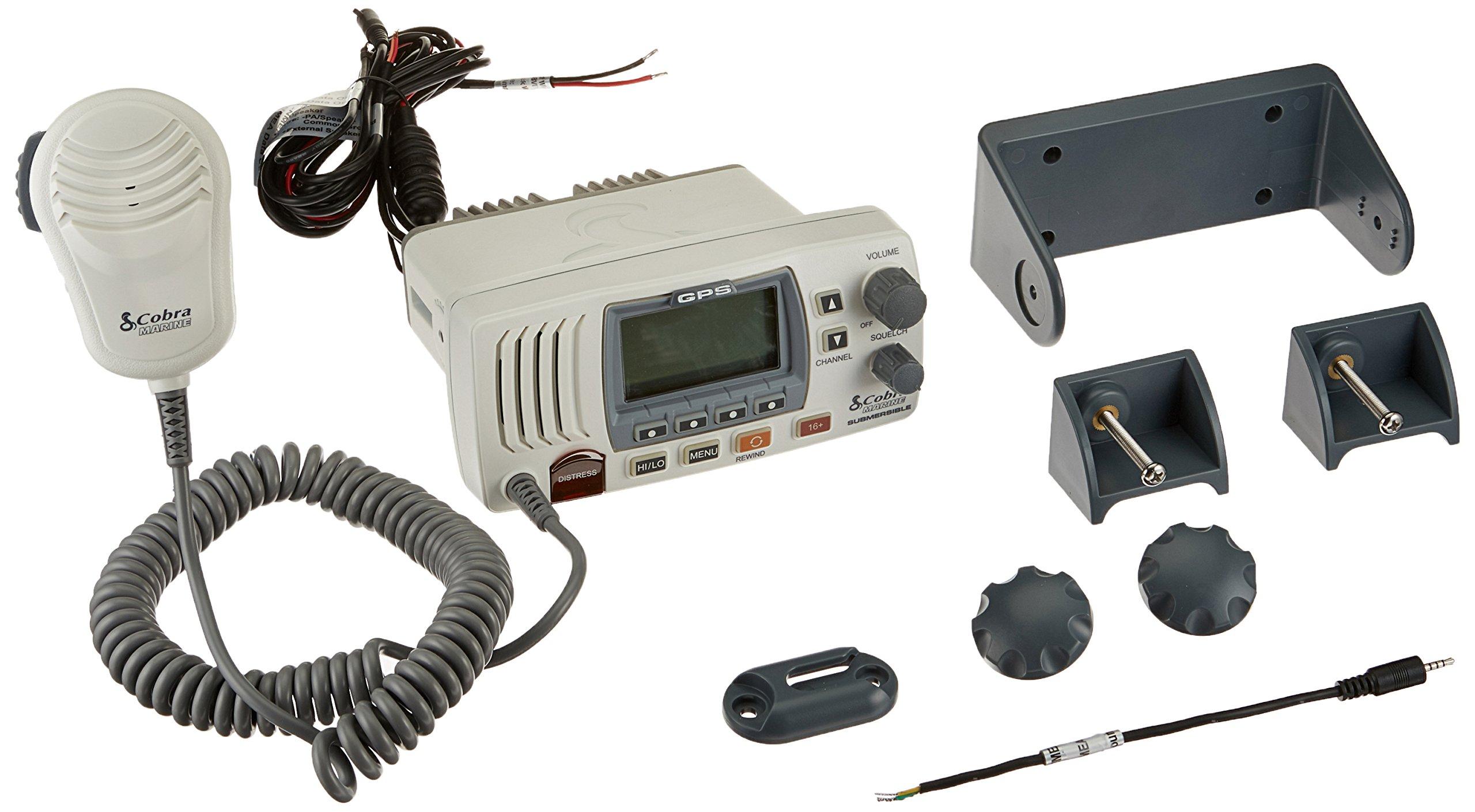 Cobra Electronics Corporation 4 Cobra Electronics MR F57W Radio Marine Vhf Mr-F57W White by Cobra Electronics Corporation