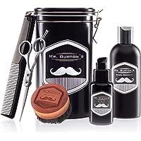 Set da barba completo – comprende olio da barba Mr Burton's, spazzola, forbici e pettine – idea regalo perfetta per tutti gli uomini con la barba
