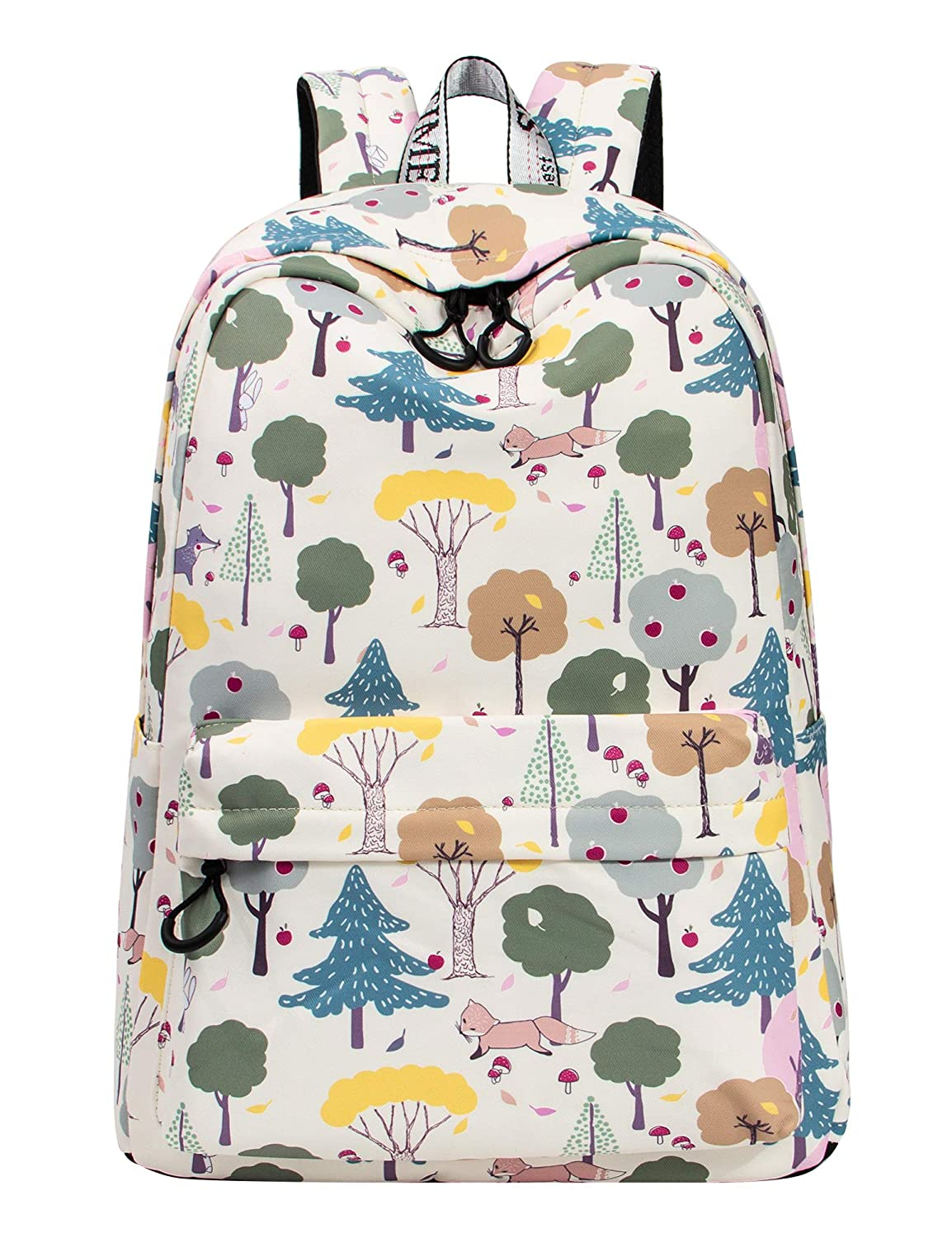 b14f0c5d37f3 Amazon.com  VOLINER Cute Fox Print Laptop Backpack Bookbag School Bags  Travel Daypack Beige  HeiHu