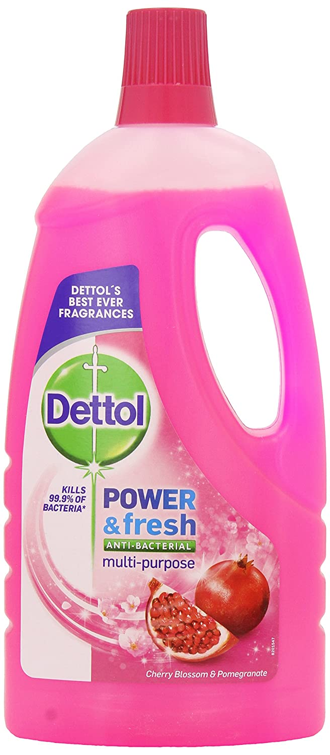 Dettol Power and Fresh Floor Cleaner, Cherry Blossom and Pomegranate, 1 Litre Reckitt Benckiser