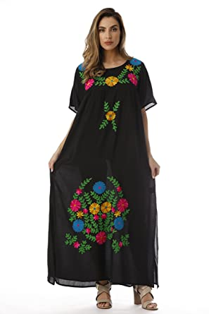 d21f29e7db5b Riviera Sun Embroidered Maxi Dress with Double Side Slits at Amazon ...