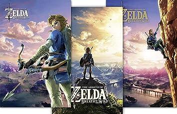 Zelda Legend G874215 Wild Póster Breath De Juego Of 3 The rsxdthQC