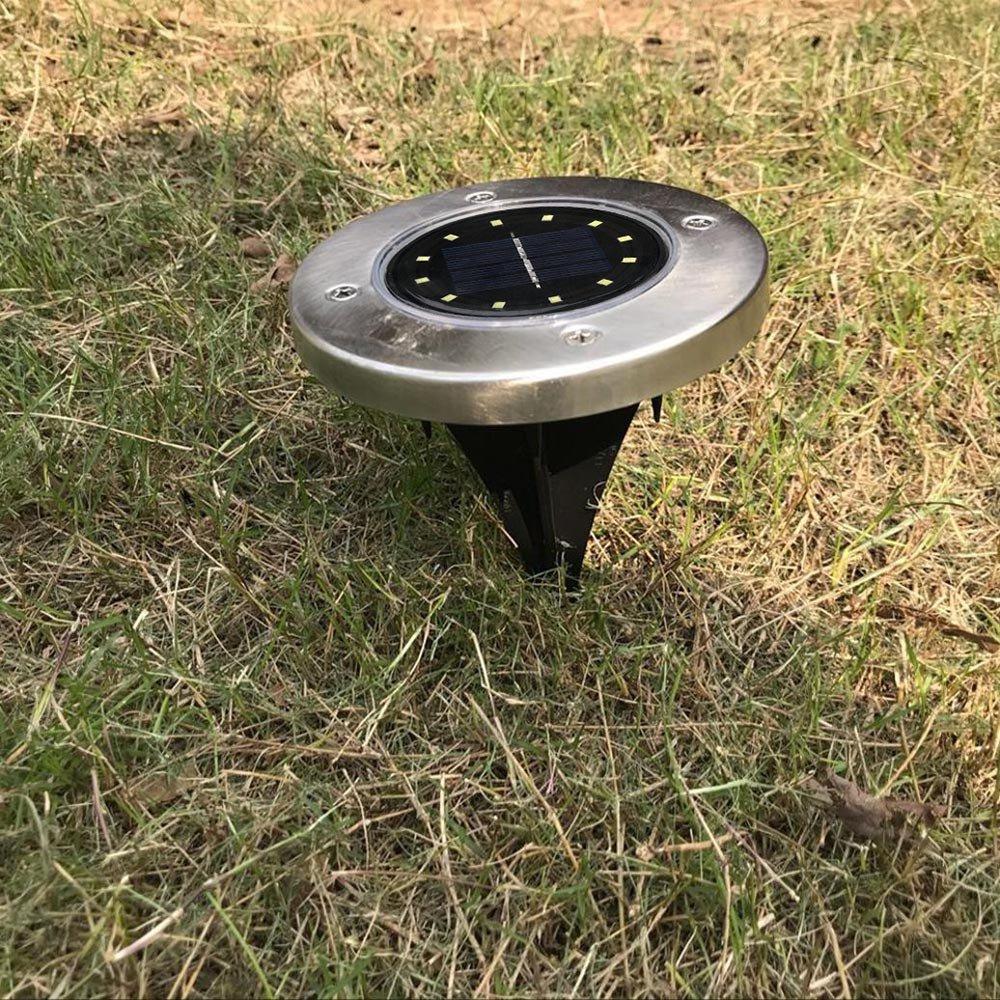 Solarleuchte Im Boden Kangrunmy Ip44 Mit 12 Led Elegante Laterne