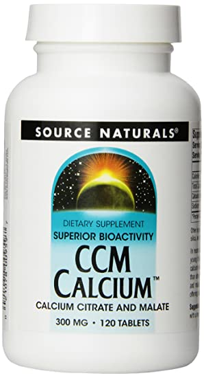Source Naturals CCM Calcium Calcium Citrate/Malate 300mg, 120