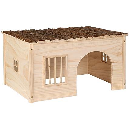 TecTake Casa casita de roedores madera roedores   -varias tamaños- (L 53x28x41 cm