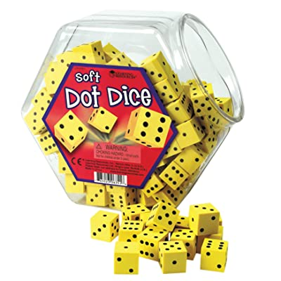 Learning Resources Hands-On Soft Dot Dice Bucket: Office Products