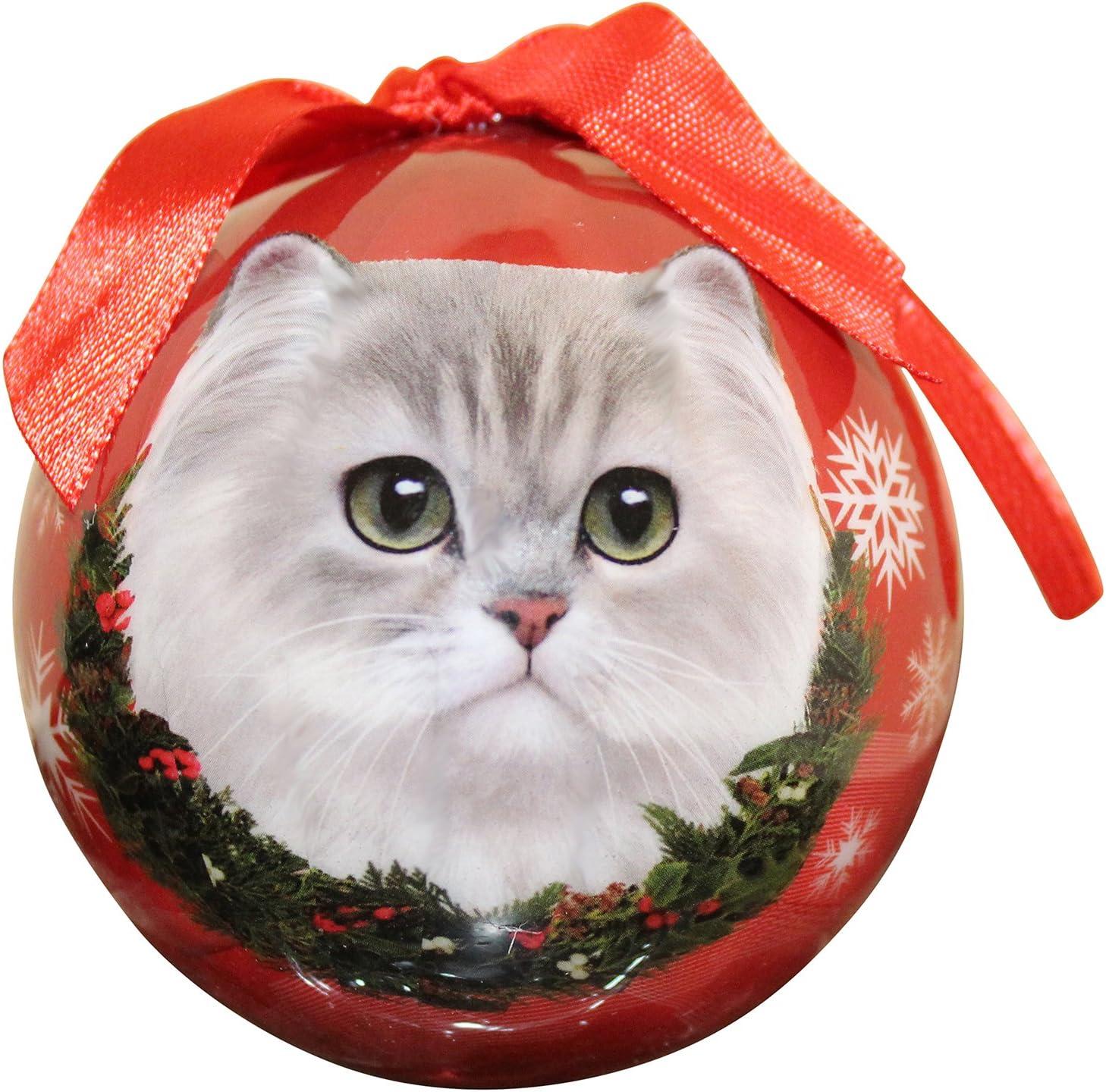 HIMALAYAN CAT CHRISTMAS BALL ORNAMENT HOLIDAY XMAS PET LOVERS GIFT