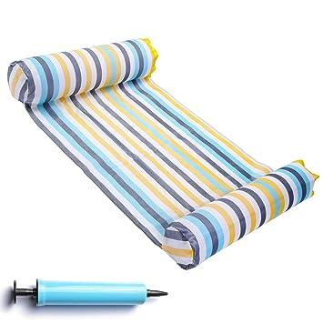 Amazon.com: FindUWill hamaca flotante portátil para piscina ...