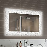 900 x 600 mm Designer Illuminated LED Bathroom Mirror Light Sensor + Demister ML7001