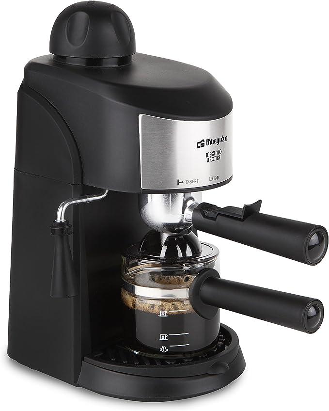 Orbegozo EXP 4500 Cafetera a presión, 800 W, 6 Cups, Negro, Acero ...