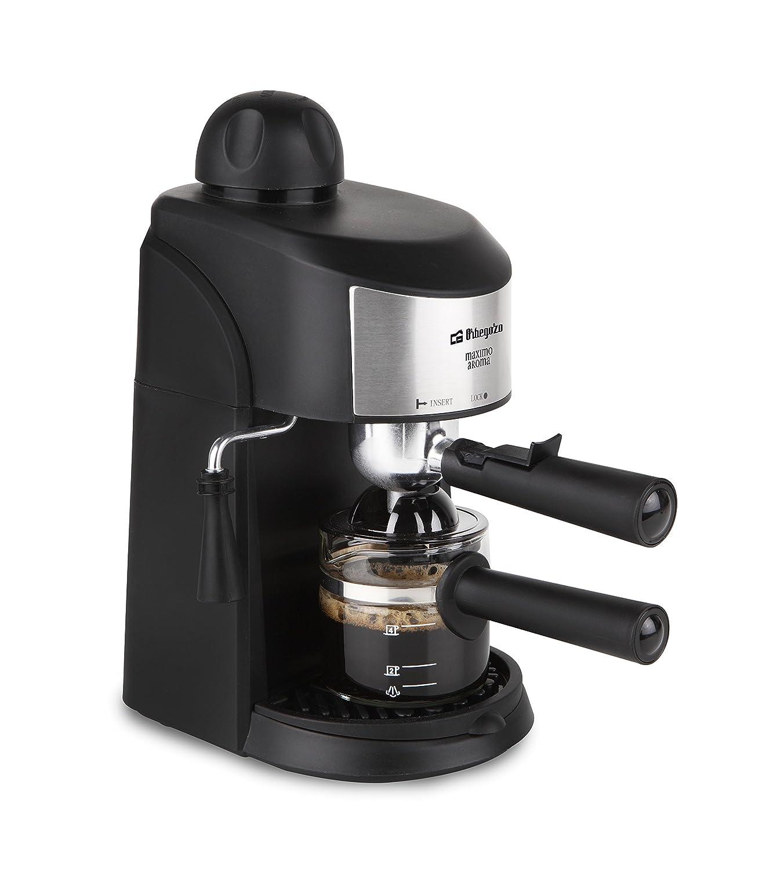 Orbegozo EXP 4500 Cafetera a presión, 800 W, Negro, Acero inoxidable