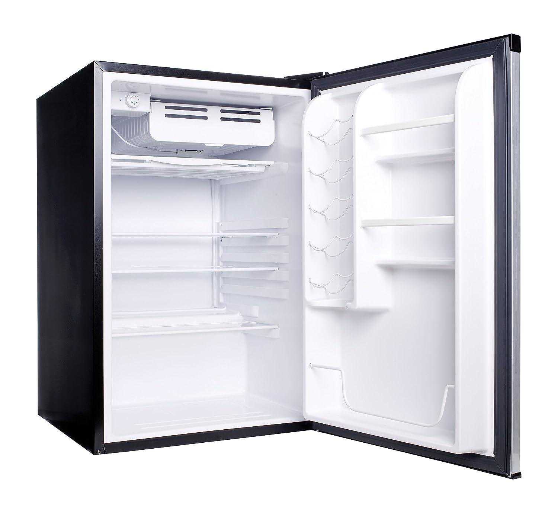 haier mini refrigerator. amazon.com: haier hc45sg42sv 4.5 cubic feet refrigerator/freezer, white interior, vcm door: appliances mini refrigerator e