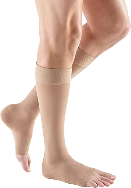 20-30 mmHg mediven Plus Calf High Compression Stocking Open Toe
