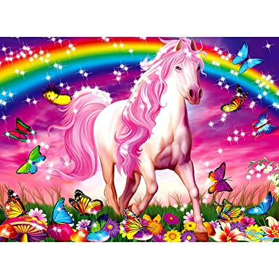Ravensburger Horse Dreams - 100 Piece Glitter Jigsaw Puzzle for Kids – Every Piece is Unique, Pieces Fit Together Perfectly: Toys & Games
