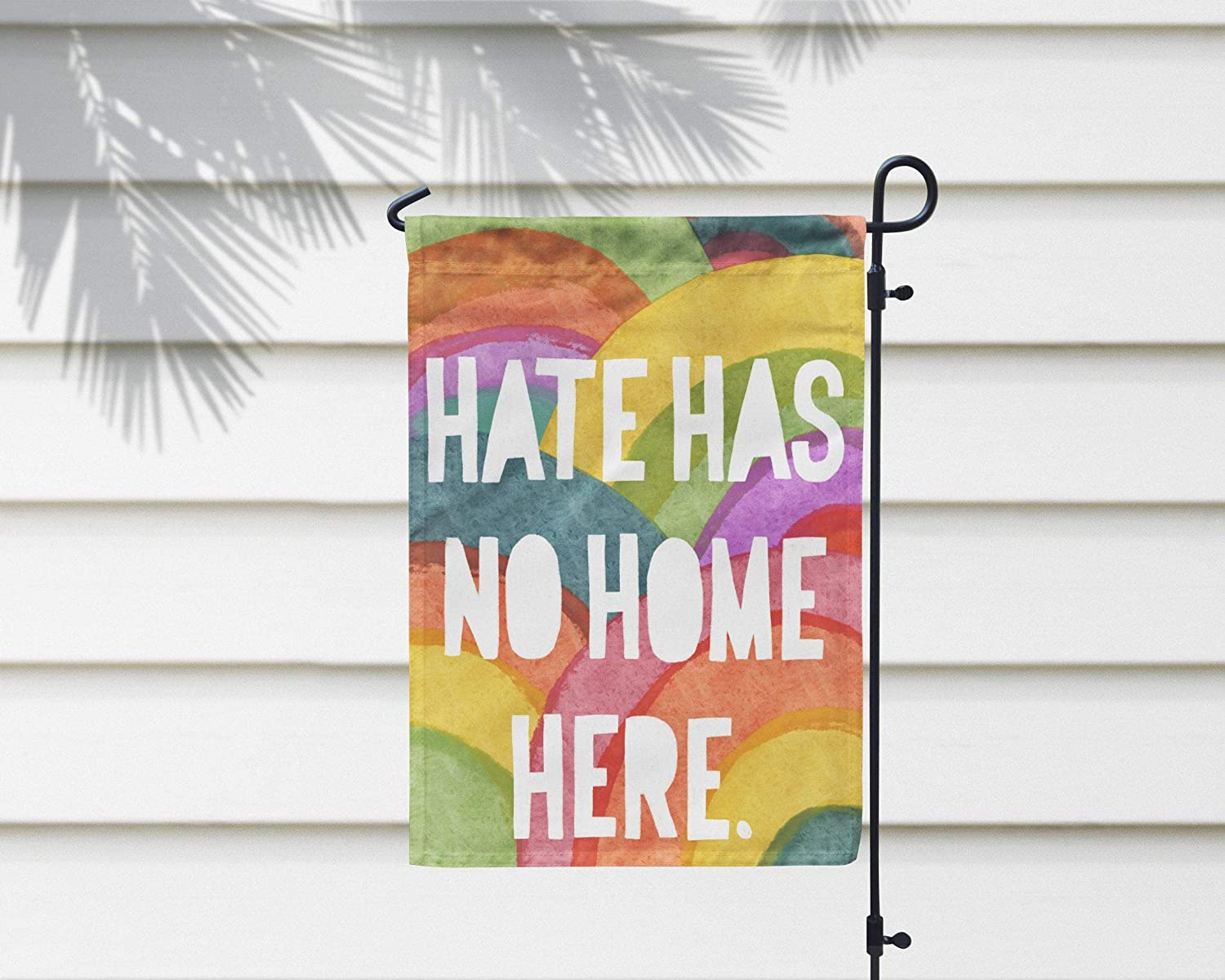 Cheyan Hate Has No Home Here Colorful Rainbow Garden Flag, Outdoor Decorative House Flag Promoting Peace, Equality, Diversity, Anti-Racism