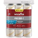 Wooster Brush RR727-9 Pro/Doo-Z Nap Rollers, 3/8-Inch, 6-Pack , White