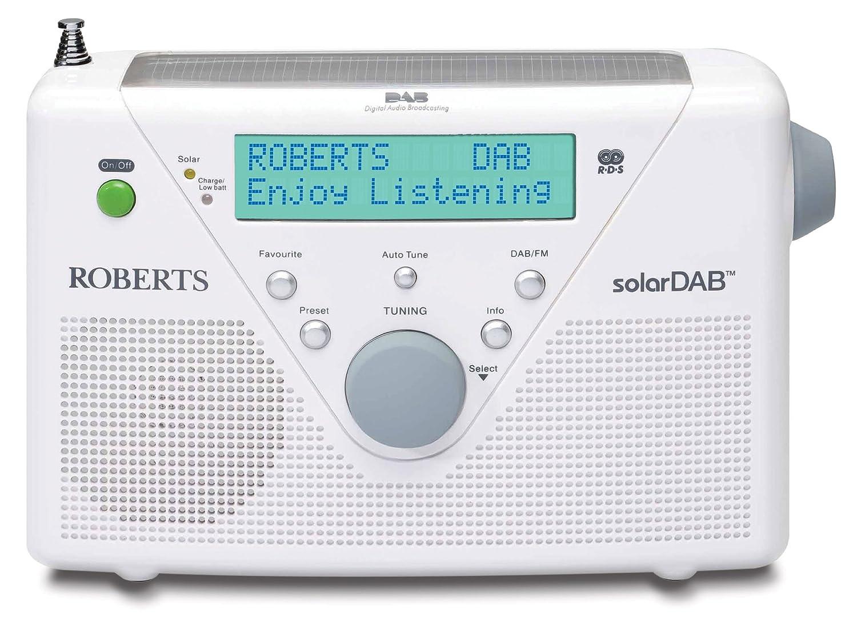 Roberts DAB / FM Digital Solar Radio - White: Amazon.co.uk: TV